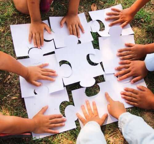 apprentissage coopératif à l'aide d'un puzzle