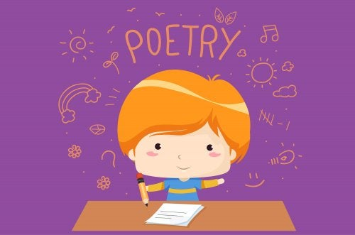 l'enfant lit la poésie