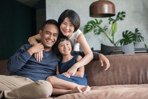 famille avec un enfant unique