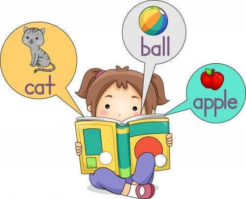 fille apprenant l'anglais