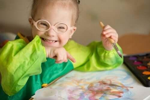 Une fillette handicapée