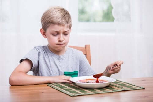 enfant ne voulant plus manger