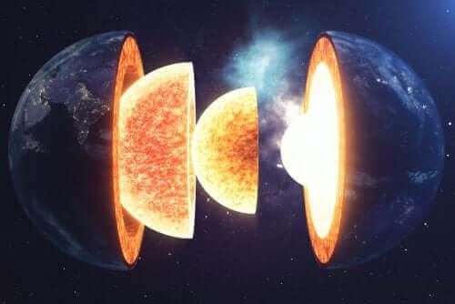 différentes couches de la Terre