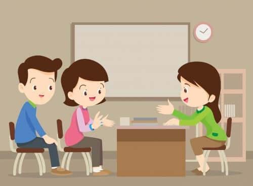 Réunion avec le professeur principal