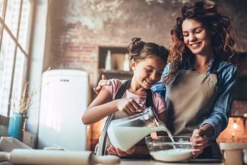 Les nutriments dans l'alimentation d'une enfant