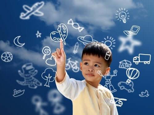Un enfant dessinant dans l'air, école de l'intelligence, Augusto Cury