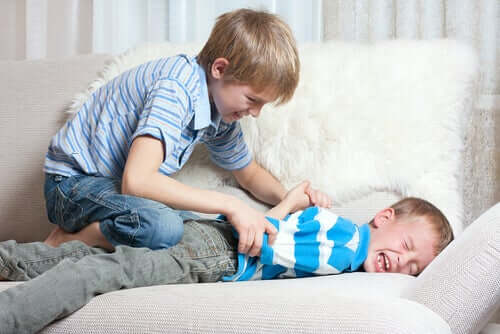 Deux frères se battant