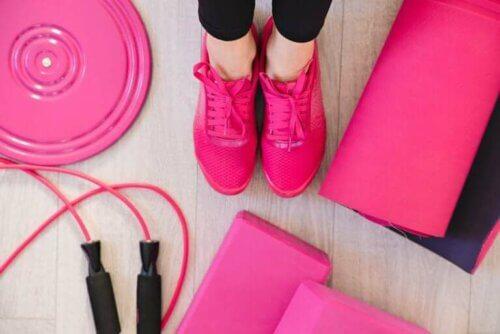 Femme prête pour le fitness