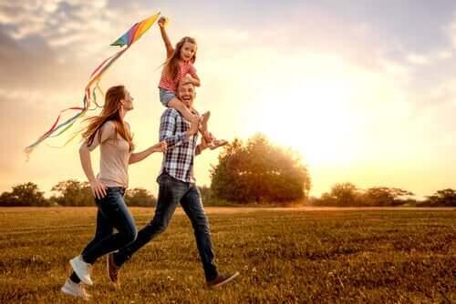 Une sortie en campagne avec les enfants.