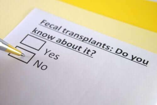 Un questionnaire sur la transplantation fécale
