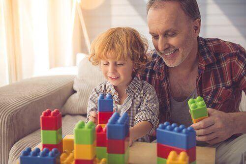 jeux de construction entre père et fils