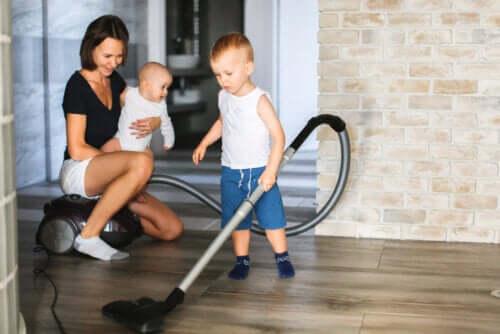 Permettre l'adaptation des enfants en profitant du confinement pour les initier aux tâches ménagères