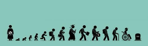 Pictogramme du cycle de la vie