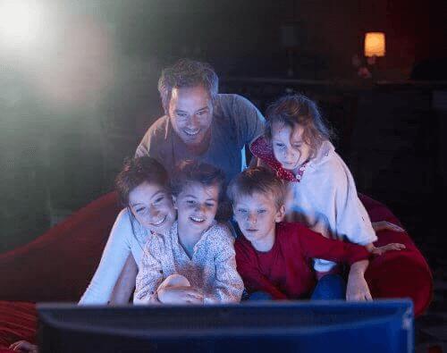 Projection de films en famille avec nos enfants