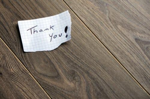 Petit mot de remerciement