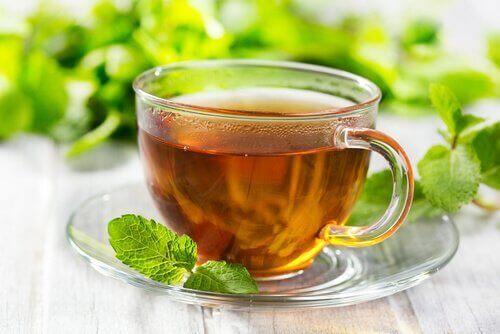 tasse de thé à la menthe