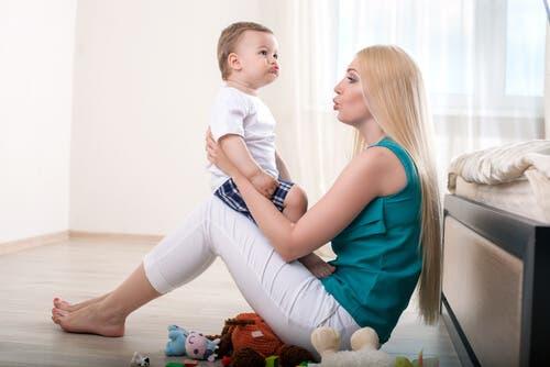 Un bébé ayant besoin d'une thérapie du langage