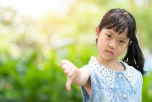 Le mauvais caractère chez un enfant