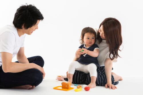 Des parents avec leur fille