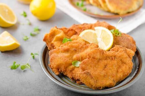Suprême de poulet aux graines de tournesol.