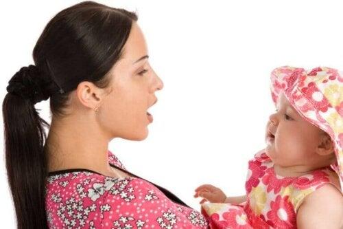 L'apprentissage du langage par le bébé.