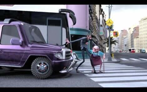 Un court-métrage d'animation Mr. Indifferent.
