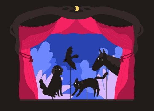 Des animaux dans un théâtre d'ombres.