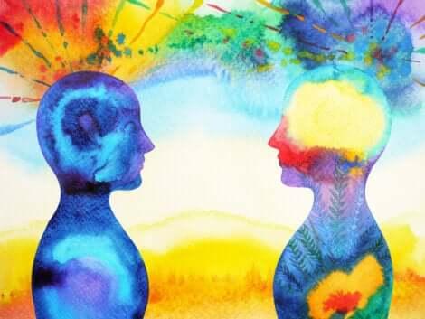 Une aquarelle connexion entre deux personnes.
