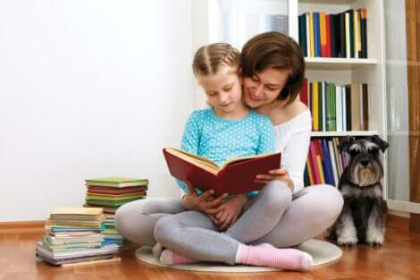 La lecture à la maison.