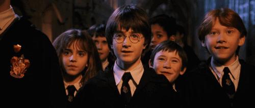Une scène du film Harry Potter à l'école des sorciers.