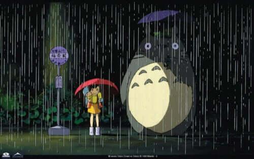 Une scène du film Totoro.
