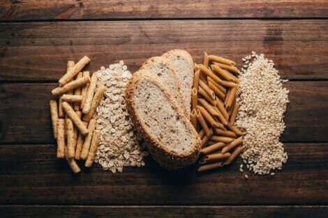 Les aliments complets regroupés.