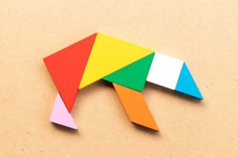 Une figure de tangram.