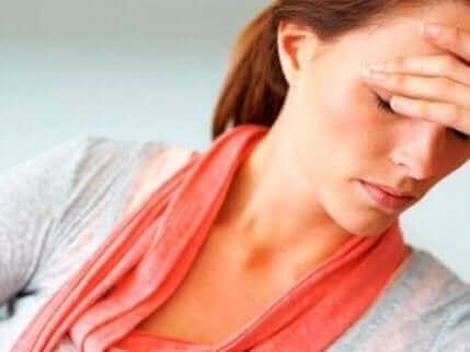Une femme stressée.