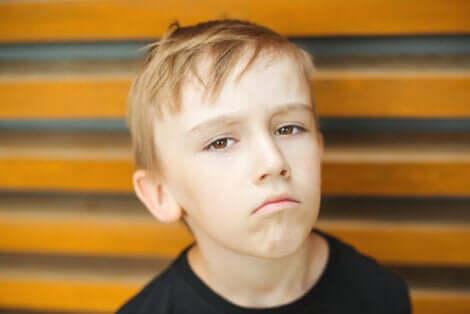 Un enfant triste.