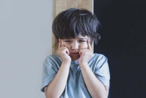 Un enfant en colère.