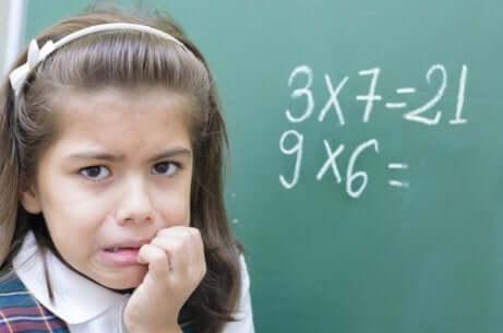 Anxiété face aux mathématiques.