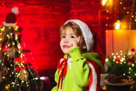 Un enfant à Noël.