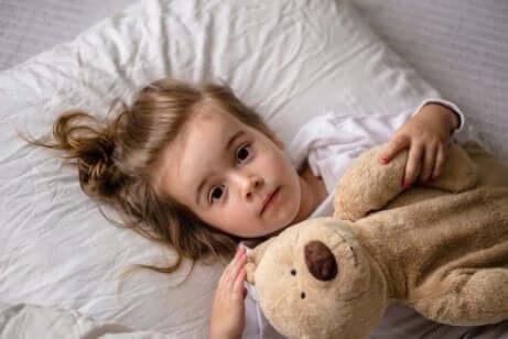Insomnie d'une petite fille.