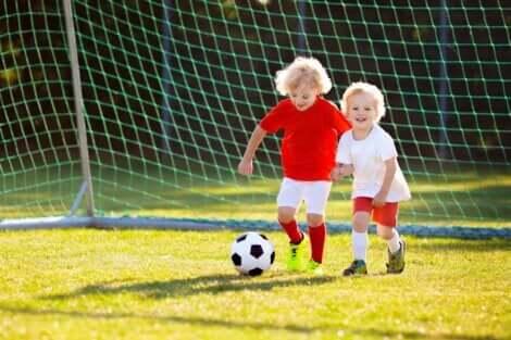 Le sport des enfants.