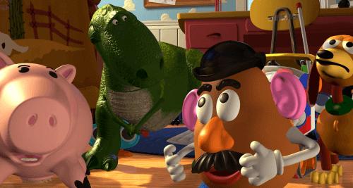 Les personnages de Toy Story.