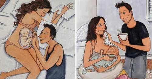 Difficile mais beau : des illustrations montrent à quoi ressemble le parcours de la grossesse et de la maternité